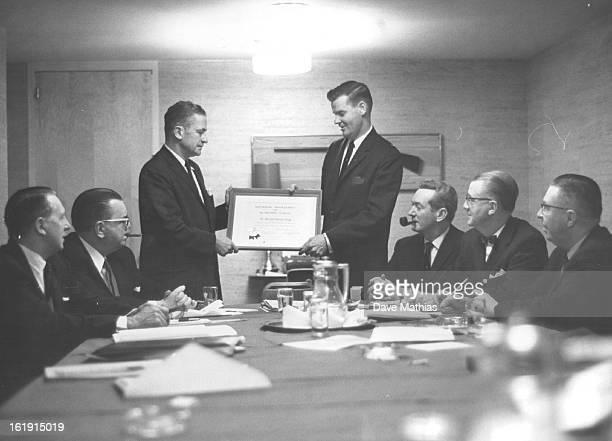 2111961 FEB 12 1961 Chicago Gets Membership Plaque Denver Municipal Judge William H Burnett president of the National Assn of Municipal Judges...