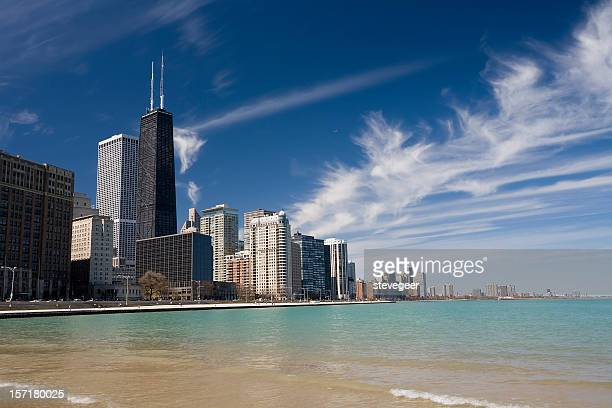 chicago gold coast - hancock building chicago stock photos and pictures