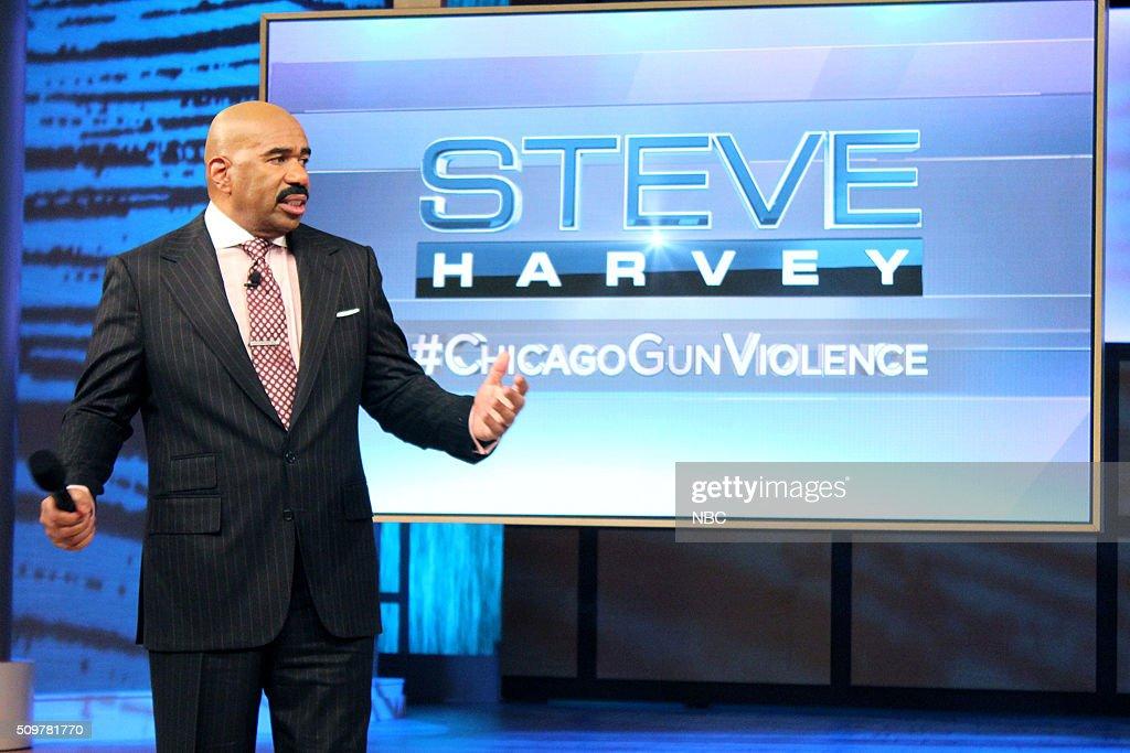 HARVEY -- Chicago Gun Violence -- Pictured: Steve Harvey?'s special episode devoted to Chicago gun violence --