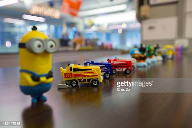 Chicago IL JULY 20 2015 Some of the Happy Meal toys developed specifically for the Canadian Market include toy Zambonis and Vancouver 2010 Olympic...