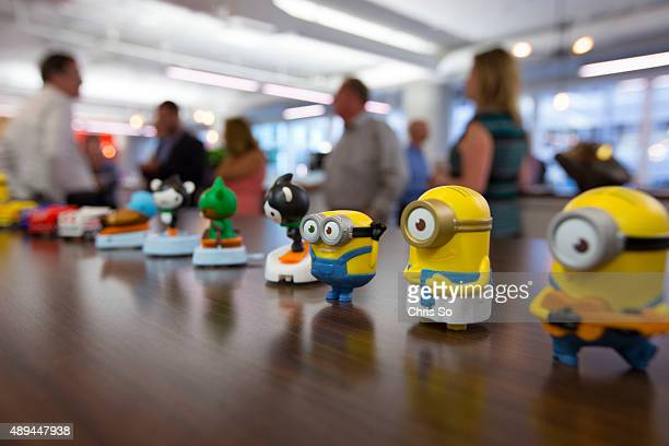 Chicago IL JULY 20 2015 The wildly popular Minions toys are timed with the movie release The Marketing Store has been involved in McDonalds Happy...