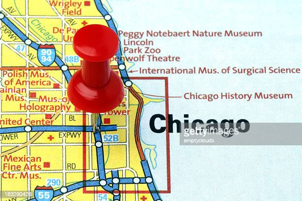 Chicago, Illinois on a map.