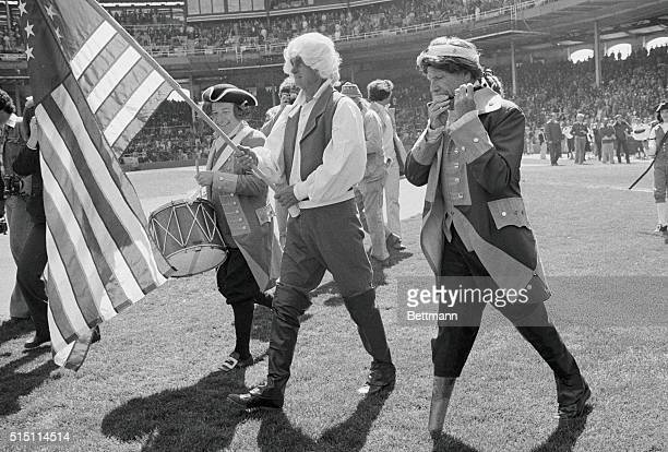 Opening day ceremonies with a Bicentennial theme finds White Sox owner Bill Veeck staging the first of many stunts April 9 Veeck got his field...