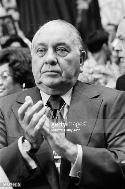 Chicago Illinois USA August 26 to August 29 1968 The Honorable Richard J Daley mayor of Chicago at the Democratic Convention in the International...