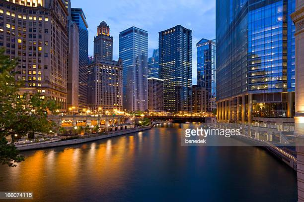 chicago, illinois, usa - chicago river stock pictures, royalty-free photos & images