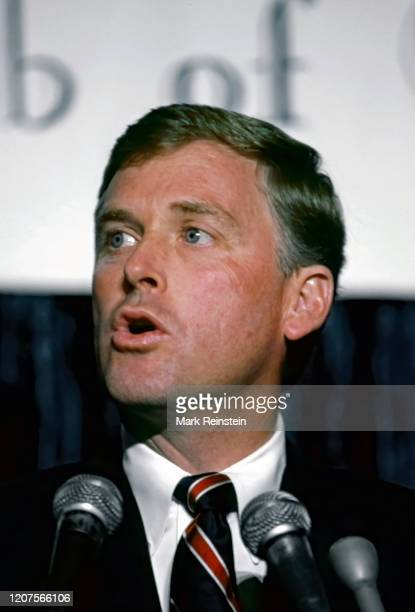 Chicago Illinois USA September 8 1988nRepublican VicePresidential nominee Senator Dan Quayle delivers an informal speech on foreign policy to 400...