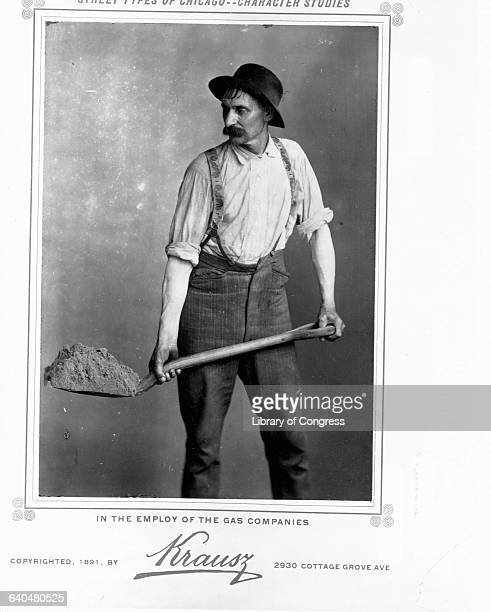 Chicago Laborer Shoveling Dirt