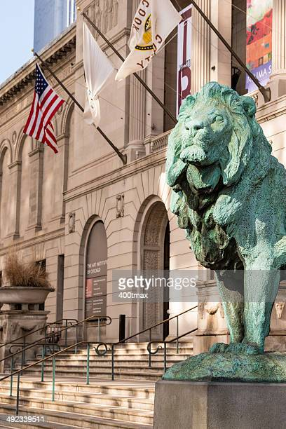 chicago lion - art institute of chicago stock pictures, royalty-free photos & images