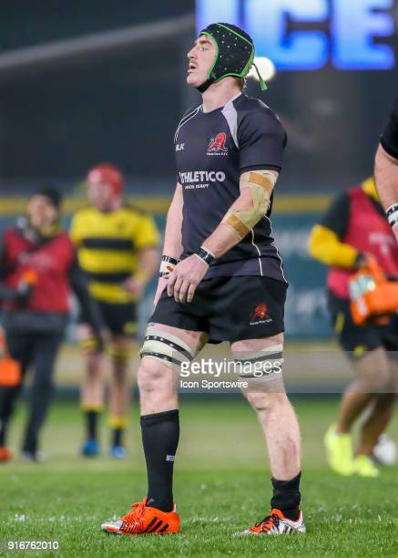 Chicago Lions lock Erik Jacobson walks to the end zone during the Major League Rugby match between the Chicago Lions and Houston SaberCats on...