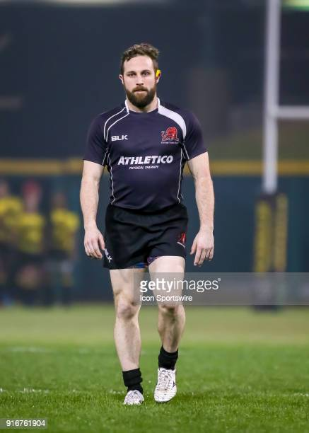 Chicago Lions wing Brian Rooney walks to the end zone during the Major League Rugby match between the Chicago Lions and Houston SaberCats on February...