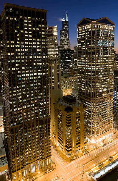 Chicago Loop at Dusk
