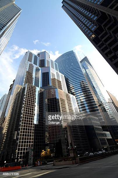 chicago loop - wacker drive stock photos and pictures