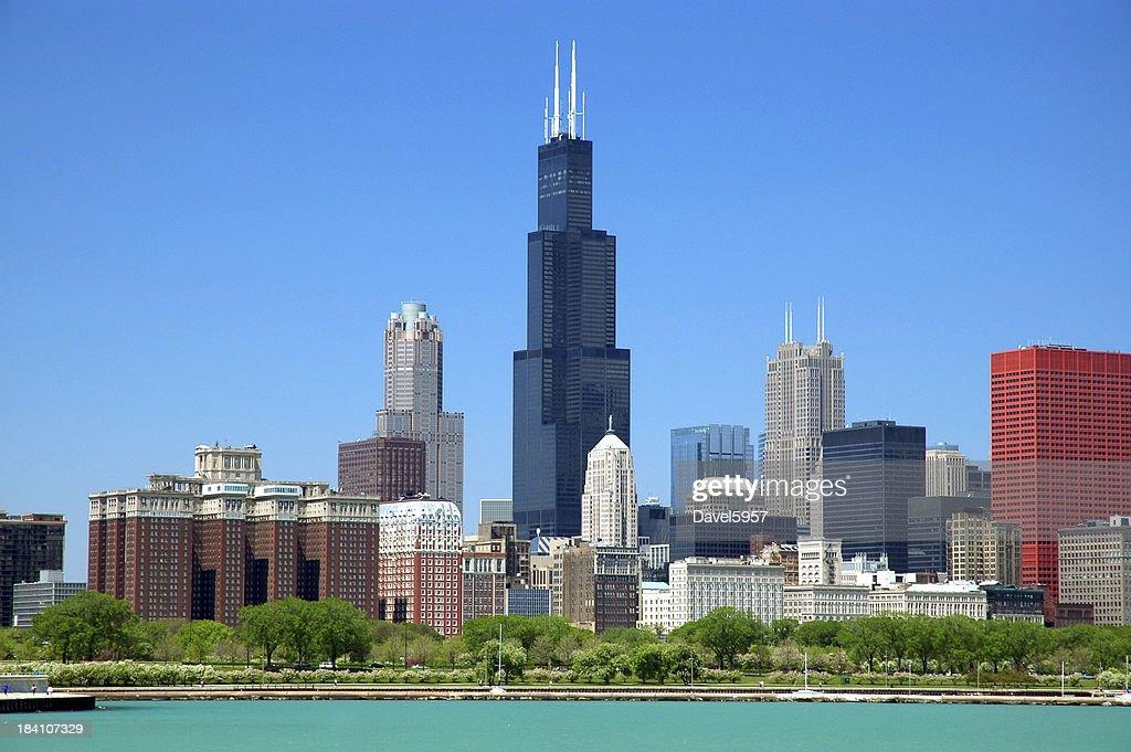 Chicago loop skyline : Stock Photo