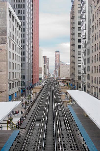 Chicago Loop train tracks