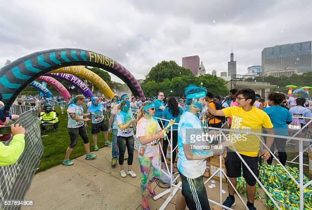 Chicago Marathon - finish line