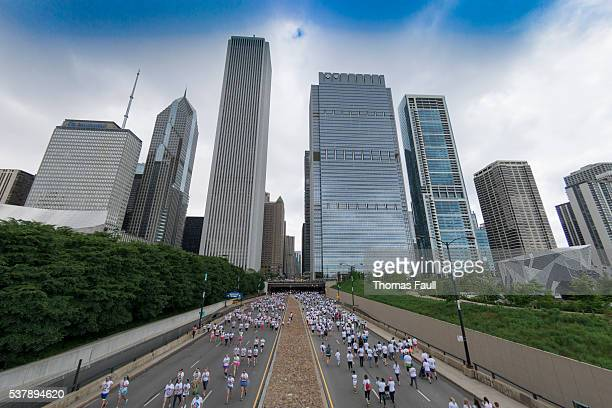 Chicago Marathon Skyline