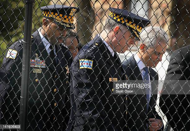 Chicago Mayor Rahm Emanuel arrives with Police Superintendent Garry McCarthy for a press conference to announce the results of two investigations...