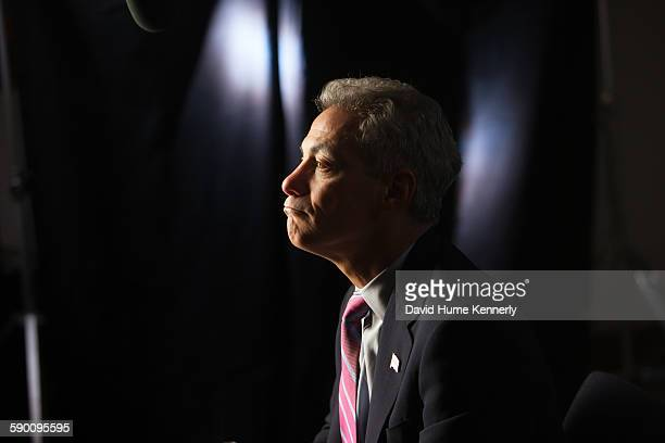 Chicago Mayor Rahm Emanuel at City Hall during his interview for 'The Presidents' Gatekeepers about former White House Chiefs of Staff October 28 in...