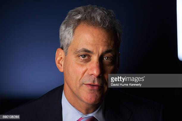 """Chicago Mayor Rahm Emanuel at City Hall during his interview for 'The Presidents' Gatekeepers,"""" about former White House Chiefs of Staff, October 28..."""