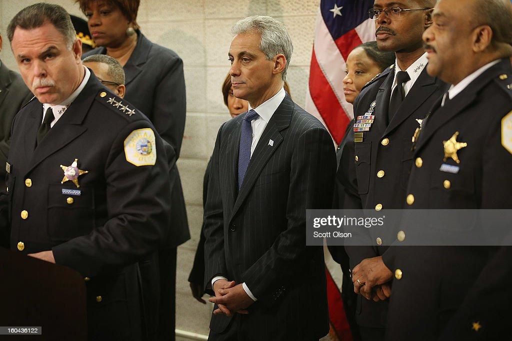 Chicago Mayor Rahm Emanuel Announces Police Dept. Plans To Combat Gang Violence