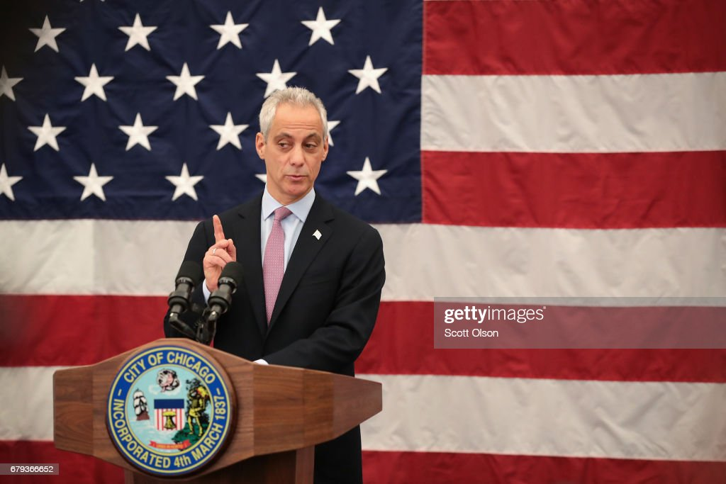 Chicago Mayor Emanuel Hosts A Naturalization Ceremony With Mexico City Mayor Mancera