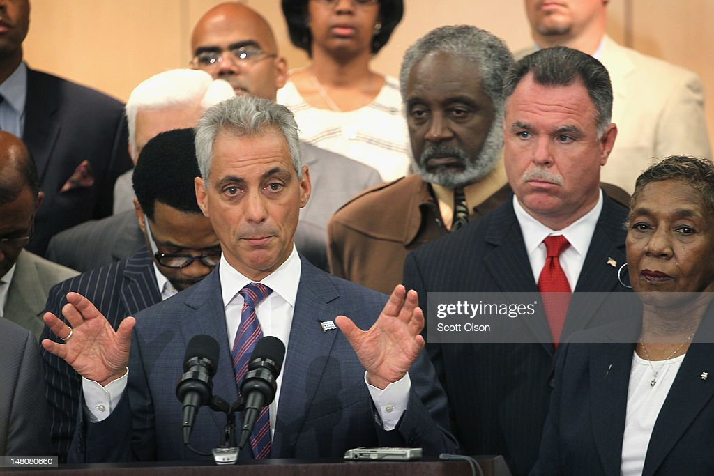 Mayor Emanuel And Chicago Police Chief Discuss New Initiative To Combat Crime