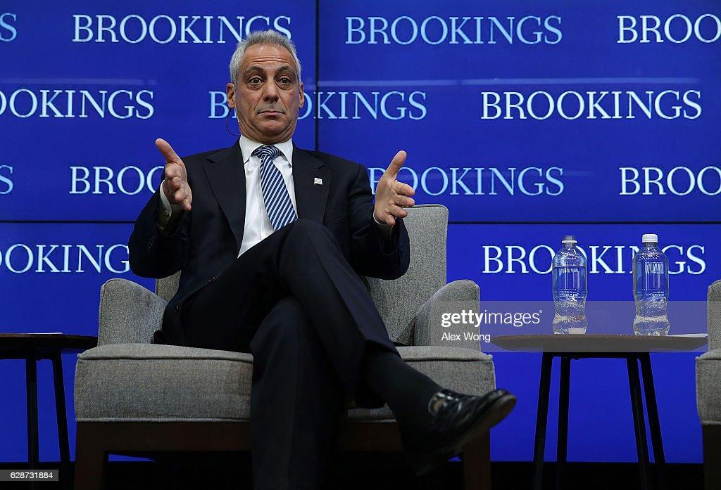 Chicago Mayor Rahm Emanuel Speaks At Brookings Institution