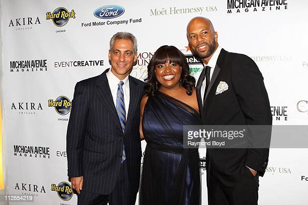 Chicago Mayor-Elect, Rahm Emanuel, Sherri Shepherd and rapper and actor Common poses for photos during the 1st Annual Common Ground Foundation Gala...
