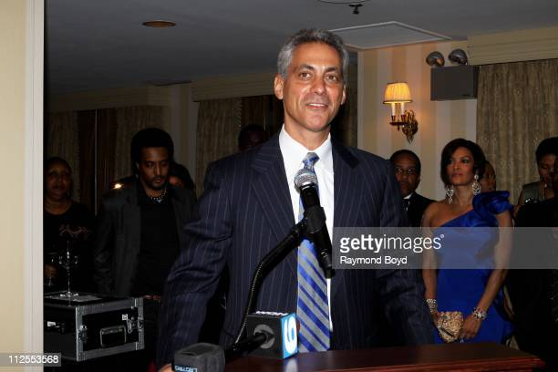 Chicago Mayor-Elect Rahm Emanuel speaks to the crowd during the 1st Annual Common Ground Foundation Gala at Hotel InterContinental in Chicago,...