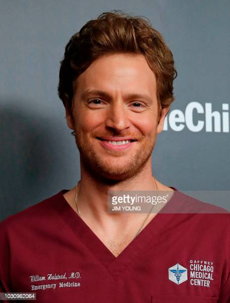 'Chicago Med' cast member Nick Gehlfuss arrives on the red carpet at the 4th Annual OneChicago Press Day in Chicago September 10 2018