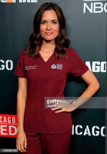 'Chicago Med' cast member Torrey Devitto arrives on the red carpet at the 4th Annual OneChicago Press Day in Chicago September 10 2018