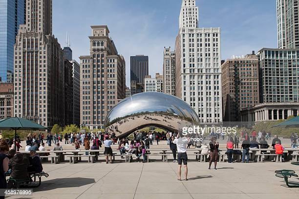 chicago millenium park - millenium park stock photos and pictures