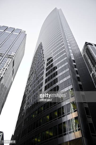 chicago modern skyscraper, black and white picture - color manipulation stock pictures, royalty-free photos & images