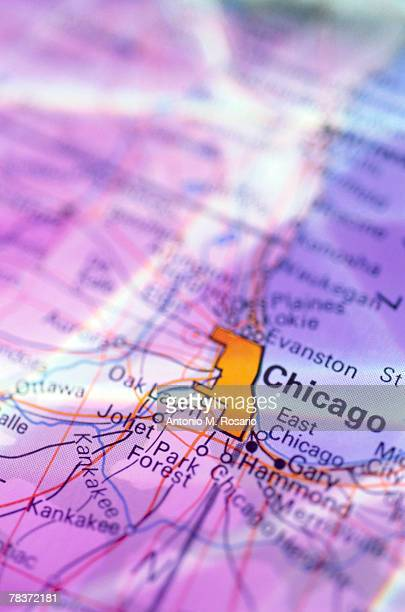 Chicago on map