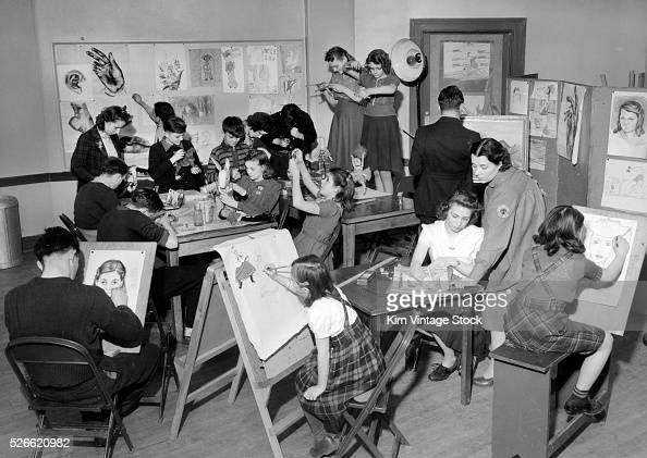 Chicago park district art class ca 1950 pictures for Painting class chicago