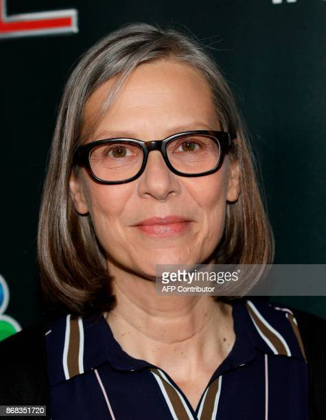 'Chicago PD' cast member Amy Morton arrives on the red carpet at the 3rd Annual OneChicago Press Day in Chicago Illinois on October 30 2017 / AFP...