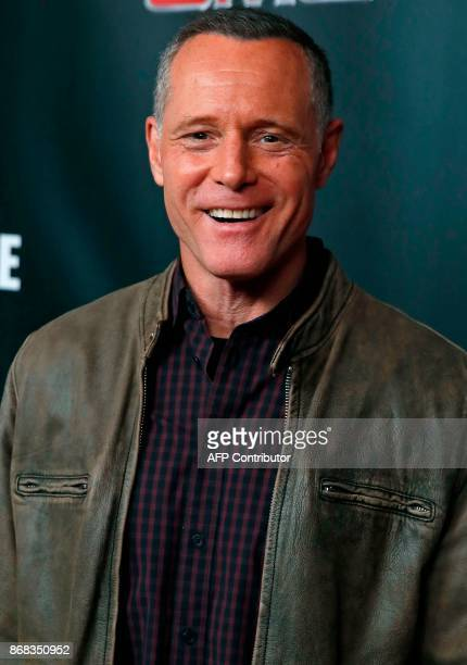 Chicago PD cast member Jason Beghe arrives on the red carpet for the 3rd Annual OneChicago Press Day in Chicago Illinois on October 30 2017 / AFP...