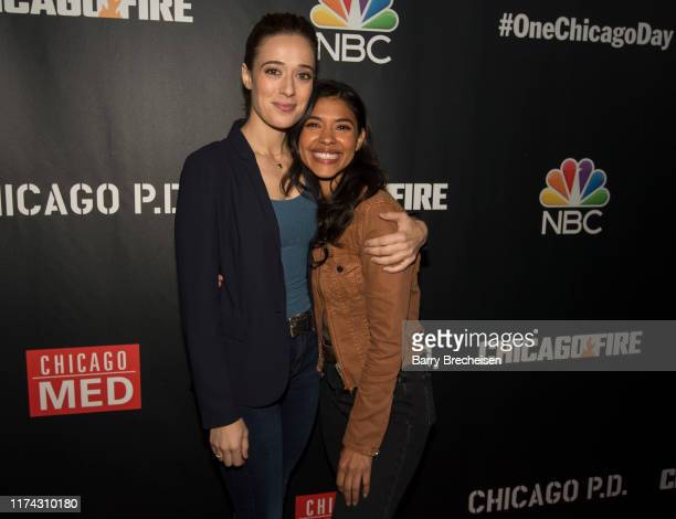 Chicago PD's Marina Squerciati and Lisseth Chavez during NBC's 5th Annual Chicago Press Day at Lagunitas Brewing Company on October 7 2019 in Chicago...
