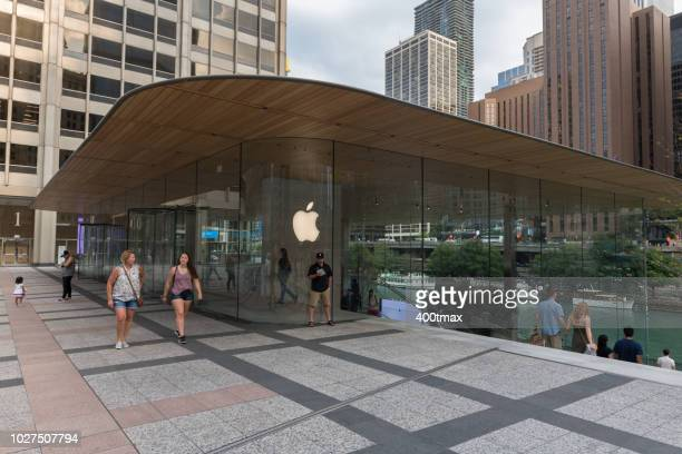 chicago - apple store stock pictures, royalty-free photos & images