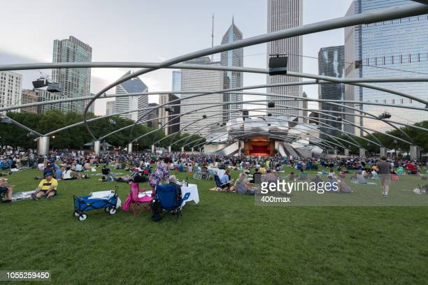 chicago - jay pritzker pavillion stock photos and pictures