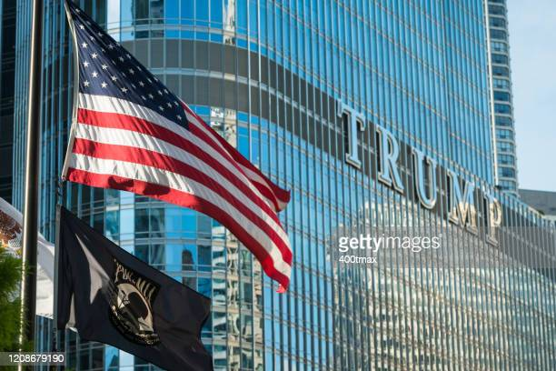 chicago - trump international hotel & tower chicago stock pictures, royalty-free photos & images