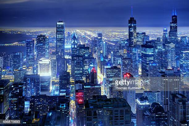 chicago - chicago skyline stock photos and pictures
