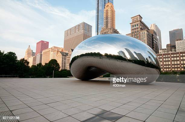 chicago - cloud gate stock photos and pictures