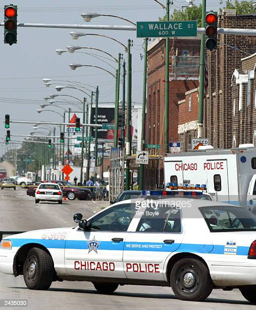 Chicago Police activity is seen near Windy City Core Supply Inc an auto parts warehouse in which seven people one of them being the gunman were...