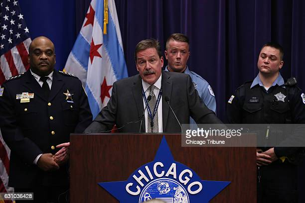 Chicago Police Commander Kevin Duffin speaks during a news conference Thursday Jan 5 2017 in Chicago on the hate crime and other charges filed...