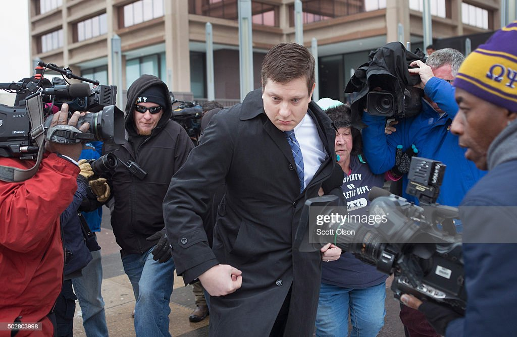 Chicago Cop Indicted In Death Of Black Teen Enters Plea At Arraignment : News Photo