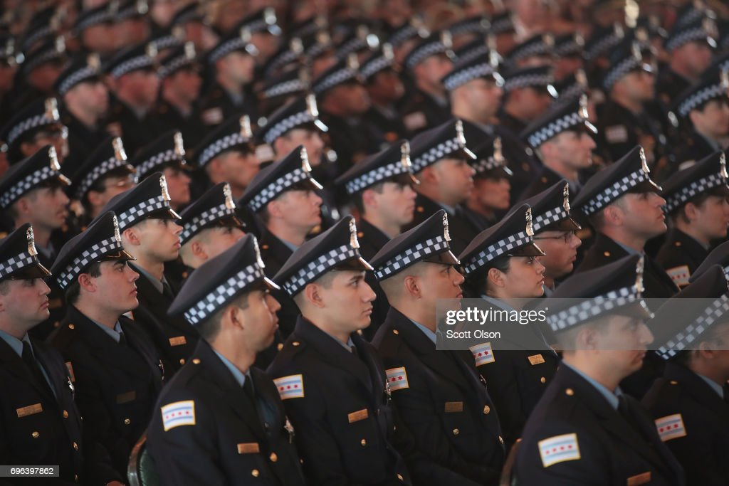 Graduation Ceremony Held For Chicago Police Department Cadets : News Photo