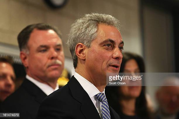 Chicago Police Superintendant Garry McCarthy listens as Mayor Rahm Emanuel speaks during a press conference which they called to promote a plan to...