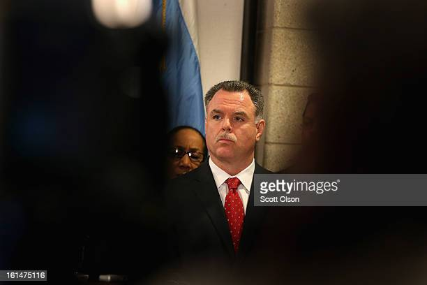 Chicago Police Superintendant Garry McCarthy listens to speakers during a press conference he called with Mayor Rahm Emanuel to promote a plan to...