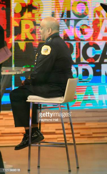 Chicago Police Superintendent Eddie Johnson is seen on the set of 'Good Morning America' on February 25 2019 in New York City